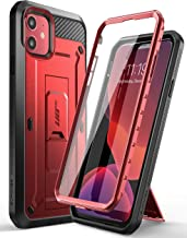 SUPCASE Unicorn Beetle Pro Series Case Designed for iPhone 11 2019, Built-in Screen Protector Full-Body Rugged Holster Case (MetallicRed)