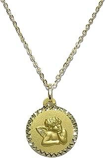 Es ideal para colgar en cunas o carros y as/í proteger al beb/é Perfectamente presentada para regalo. Medalla con imperdible y angelito