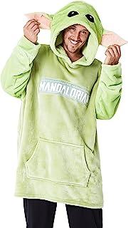 The Mandalorian Hoodies for Men, Baby Yoda Oversized Hoodie Blanket Green