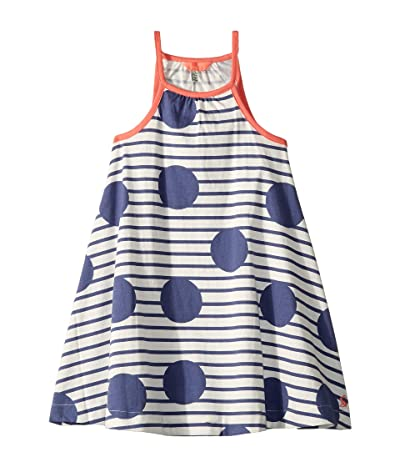 Joules Kids Tamzin Dress (Toddler/Little Kids/Big Kids) (Blue Spot Stripe) Girl
