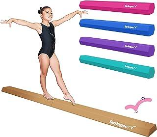 Springee 9ft Balance Beam – Extra Firm – Vinyl Folding Gymnastics Beam for Home
