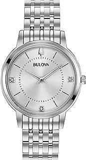 Bulova - Reloj analógico para Mujeres de Cuarzo con Correa en Acero Inoxidable 96P183