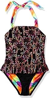 Angel Beach Big Girls' One Piece Swimsuit with Twin Print