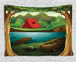 camping scene backdrop