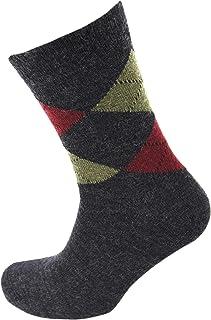 Viyella Made in England Mens Charcoal Grey Argyle Wool Socks