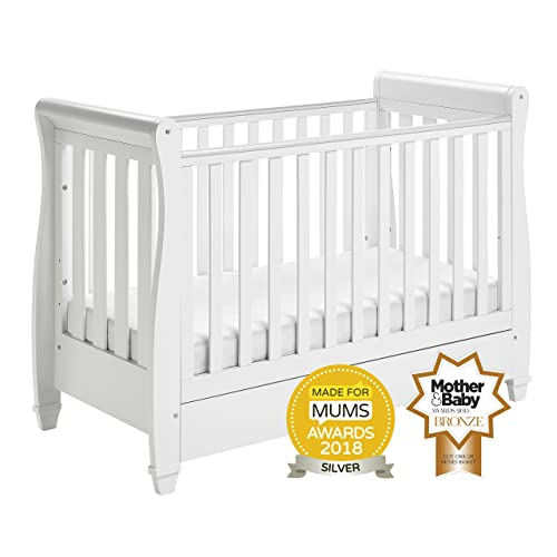 Nursery Decoration & Furniture Wooden Sleigh Style Cot Bed Cotbeds