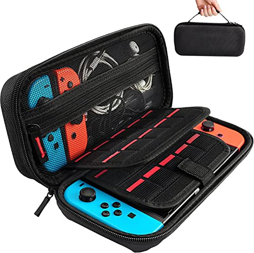 Hestia Goods Switch Carrying Case for Nintendo Switch, with 20 Games Cartridges Protective Hard Shell Travel Carrying...