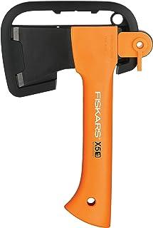 comprar comparacion Fiskars Hacha pequeña de camping, Estuche incluido, Longitud: 23 cm, Peso: 564 g, Naranja, 1015617