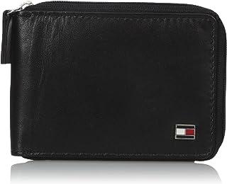 Tommy Hilfiger de los hombres piel Oxford Slim cierre de cremallera-Around Bifold Wallet