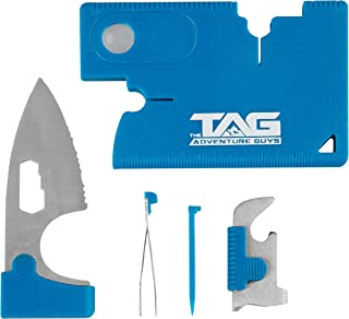 The BEST Stocking Stuffers for Men EVER - Credit Card Knife Wallet Tool - Amazing 10 in 1 Credit Card Tool with Wallet Knife, Compass, Screwdriver and More! Swiss Army Card Survival Knife
