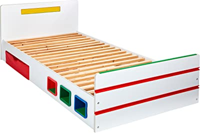 Worlds Apart Chambre 2 Build Kids Single Bed with Storage, Blanc, Taille Unique