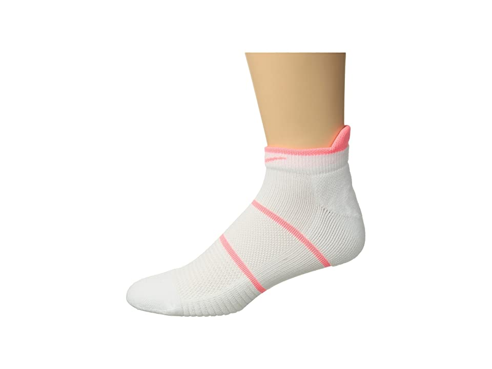 Nike NikeCourt Essentials No Show Tennis Socks (White/Lava Glow) No Show Socks Shoes