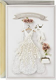 Hallmark Signature Wedding, Bridal Shower, or Engagement Card (Here Comes the Bride)