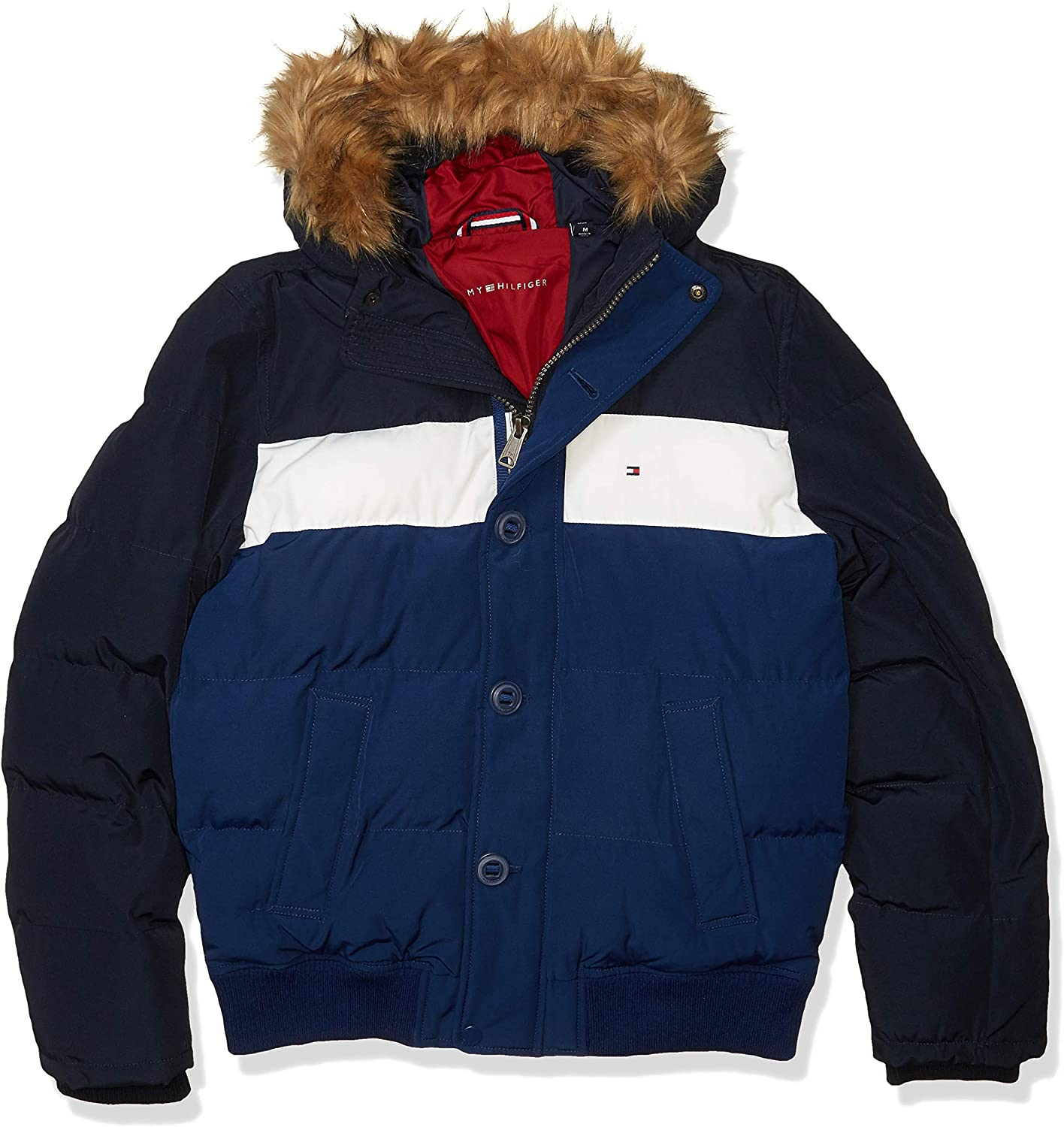 Ranking TOP3 Tommy Hilfiger Men's Arctic New product! New type Cloth Ja Full Length Snorkel Quilted