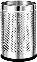 Parasnath Stainless Steel Perforated Round Dustbin, 6L (7 X 11 In)(Silver)
