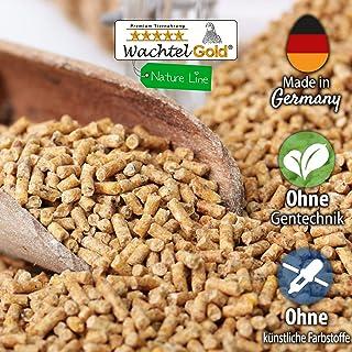 WachtelGold® alimentación de codornices ♥ │ 10kg, poner el grano naturaleza 2mm │ ✓ sin OGM │ Ideal para codornices │ Rico en linaza, semilla de chia y levadura de cerveza