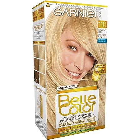Garnier Belle Color Coloración de aspecto natural y cobertura completa de canas con aceite de jojoba y germen de trigo - Tono: Rubio Extra Claro ...