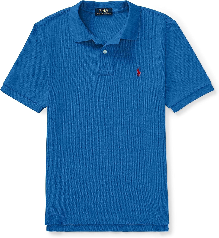 Ralph Lauren Boys Cotton Mesh Polo Shirt Size XL (18-20) Blue