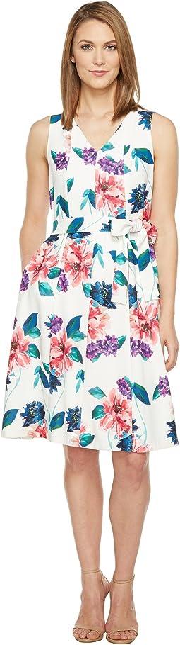 Seamed V-Neck Dress