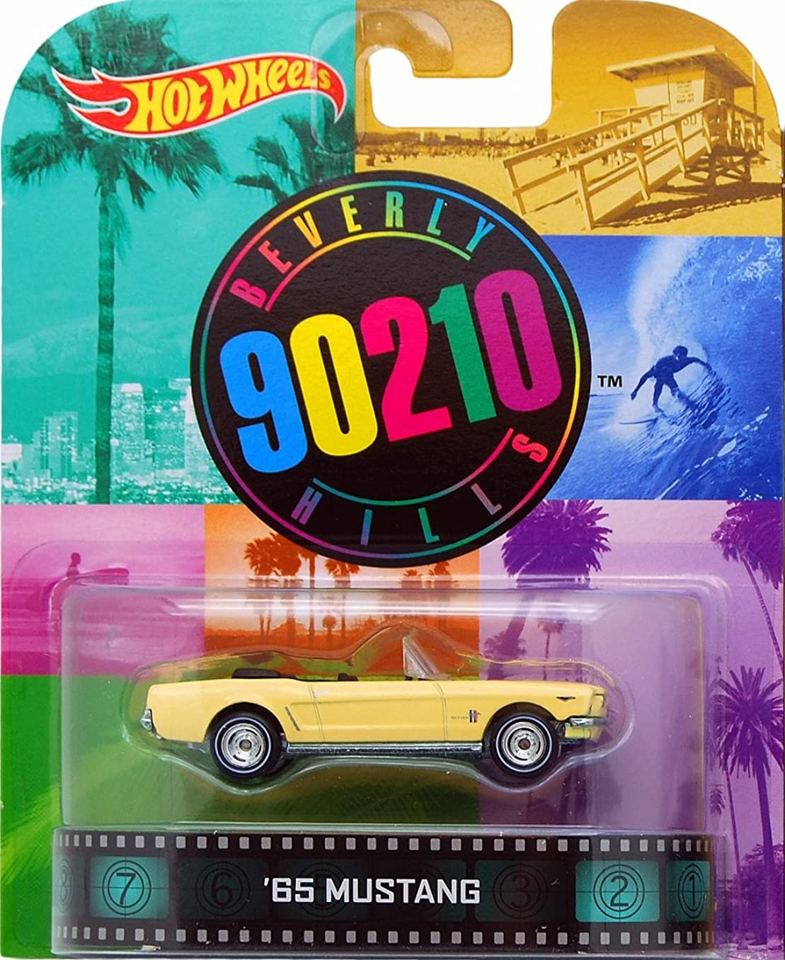 マイクロプロセッサ適応する地質学Hot Wheels Beverly Hills 90210 '65 Mustang 1/64 Die Cast Retro Series