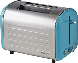ANNA GARE Retro Toaster, Stainless Steel/Blue
