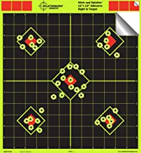 Splatterburst Targets - 12 x 12 inch Sight in Stick & Splatter Self Adhesive Shooting Targets - Shots Burst Bright Fluorescent Yellow - Great for All Firearms, Airsoft, BB & Pellet Guns!