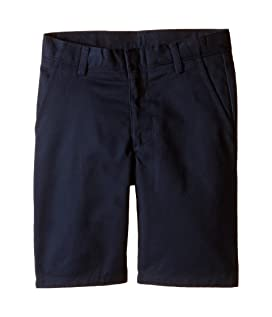 Flat Front Twill Shorts (Little Kids/Big Kids)