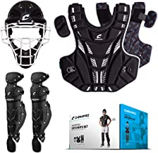 CHAMPRO Fastpitch Youth Catcher Set Face Mask Helmet, Chest Protector, Leg Guard