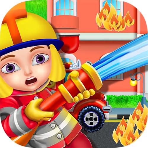 Feuerwehr Spiel für Kinder - Frei & Spaß Spiel zu lernen, Feuerbekämpfung & beitreten die Feuerwehrleute Aufgabe, Leben zu retten!