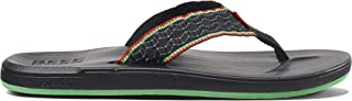 REEF Men's Sandals Cushion Smoothy   Classic Beach Flip Flop with Woven Strap and Arch Support