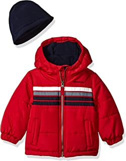 London Fog Baby Boys Heavyweight Puffer Jacket with Beanie