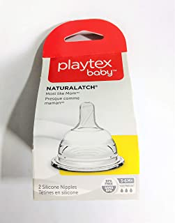 Playtex NaturaLatch Nipple, Y-Cut, 2-Count (2 Pack)