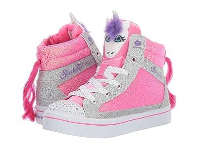 SKECHERS KIDS Twinkle Toes Twi-Lites 20257L (Little Kid/Big Kid) (Hot Pink/Silver) Girl
