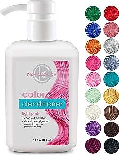 Keracolor Clenditioner Hair Dye (18 Colors) Depositing Color Conditioner Colorwash, Semi Permanent, Vegan and Cruelty-Free, 12 fl. Oz