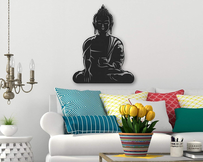 Tamengi Buddha Metal Wall Art - Buddhism Wall Decor - Lord Buddha Metal Wall Sign - Spiritual Home Decor - Religious Housewarming Wall Decal