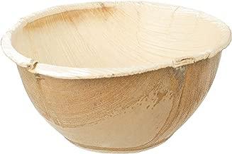 Leaf & Fiber 100 Count Eco-Friendly Palm Leaf Bowl, 5-Inch Round