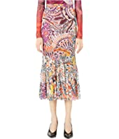FUZZI - Printed Mystical Skirt with Flare Bottom