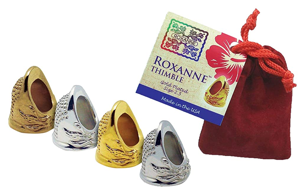 Colonial Needle Roxanne Plated Thimble, Size 8, Gold