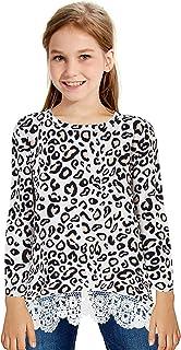 T Shirt Printed Leopard Student Crewneck