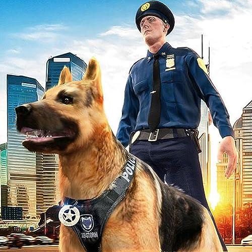 Caza de perro policial Crime City Criminal Chase 3D: Policías contra ladrones Jail Breakout Prison Escape Survival Mission Adventure Simulator Juego 2018