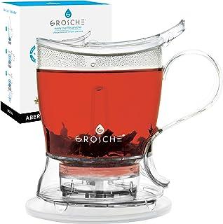 مجموعه چای ساز ABRDIN Aberdeen PERFECT با آبشار ، چای استیکر ، قوری ، چای ضد عفونی کننده ، 17.7 اونس. 525 میلی لیتر ، آسان تر تمیز ، بدون BPA ، بدون چربی!