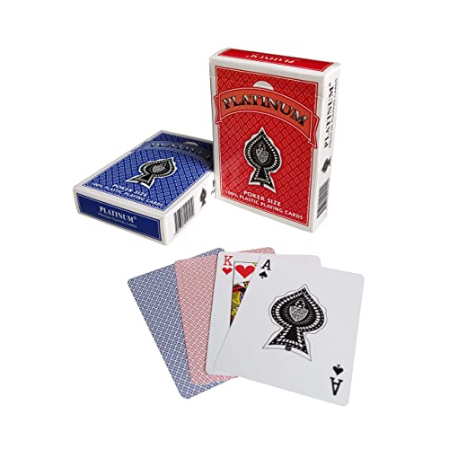 The Ace Card Company Platinum Poker Plastic Playing Cards - Pack of 2 (Washable)