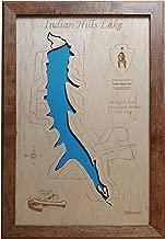 Indian Hills Lake, Missouri: Framed Wood Map Wall Hanging