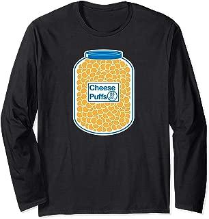 Cheese Puffs Workout T Shirt lifting Tee Cheese ball Funny Long Sleeve T-Shirt