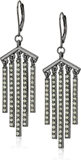 Kenneth Cole Black Diamond Stone Stick Fringe Drop Earrings, One Size