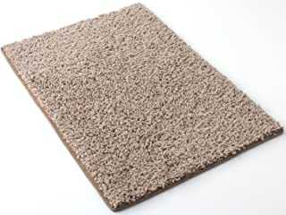"""8'x10' Beige Area Rug. Frieze Plush Textured Carpet for Residential or Commercial use. Approximately 1/2"""" Thick with Binding."""