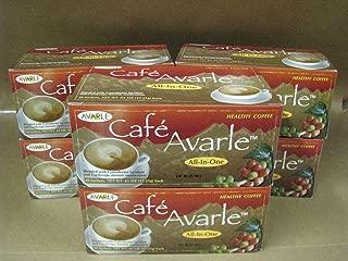 All-in-One Healthy Coffee with Ganoderma & Cordceps. Creamer, Sugar & Xylitol 6 Boxes (20 Pks Ea)