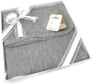 婴儿毯 & Lap Throw,100% 羊驼毛,中性,低*性,无染料,纯自然(鸽子灰色)