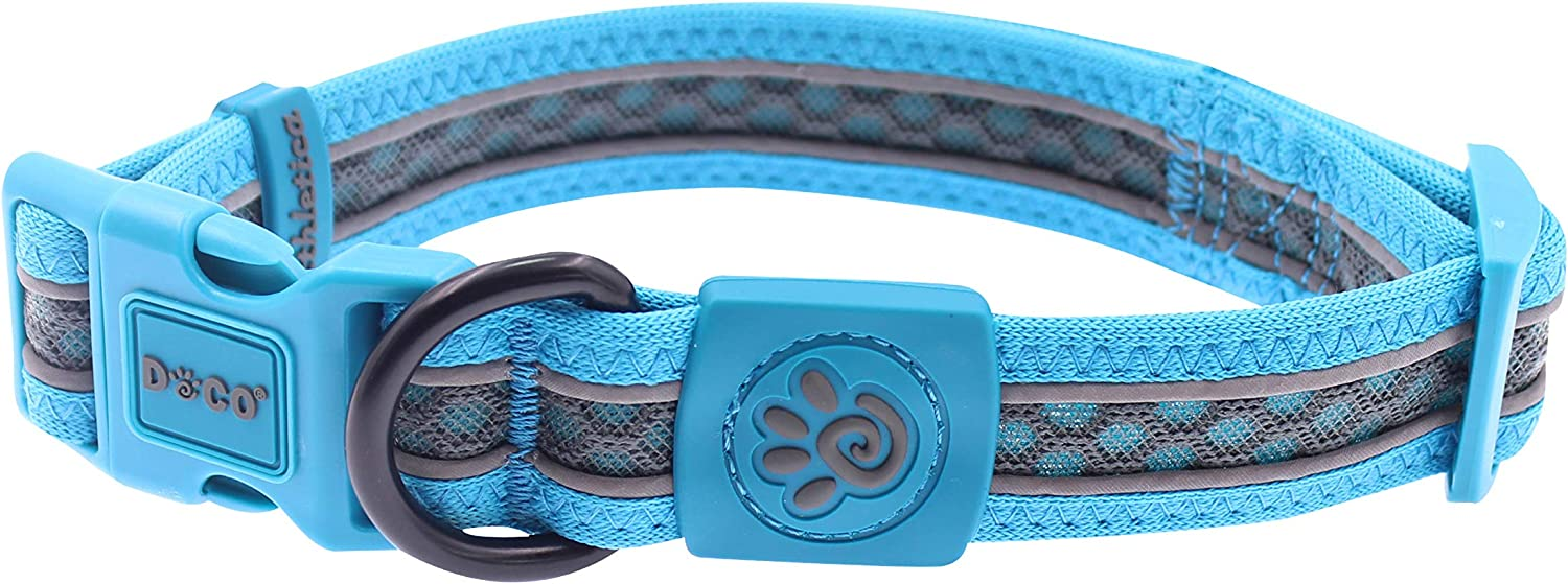 DOCO Lunar Reflective Mesh 2021 Collar for Sup Medium and Large Excellent Dogs
