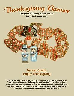 Thanksgiving Banner: Plastic Canvas Pattern